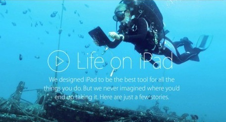 """Life on iPad"" en la web de #Apple / @LOCOSDEL136"